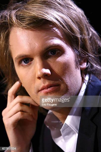 French writer Florian Zeller on the set of TV show 'Vol De Nuit'
