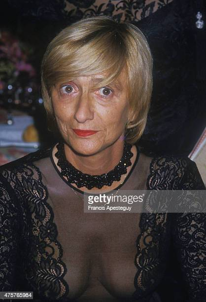 French writer Francoise Sagan at the soiree gala The Best