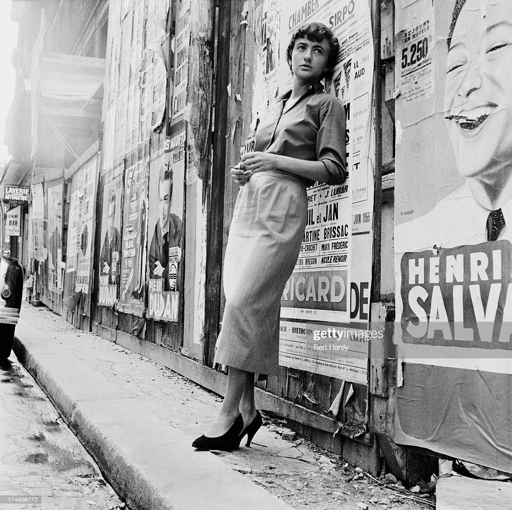 French writer Francoise Sagan in Paris a year after the publication of her debut novel 'Bonjour Tristesse' 25th July 1955 Original publication...