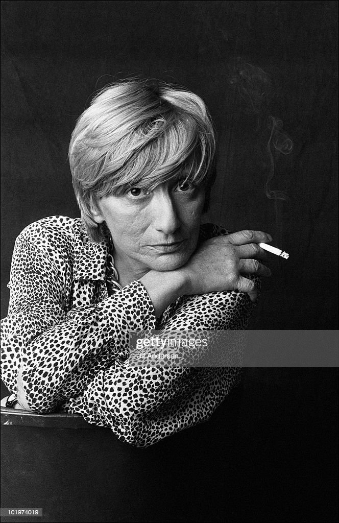 PARIS FRANCE JUNE 26 French writer Francoise Sagan poses at her office during a portrait session held on june 26 1987 in Paris France