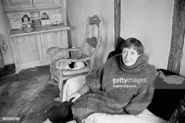 French writer from Belgian origin Béatrix Beck at home inNeufMarché befor the publication of her book La prunelle des yeux