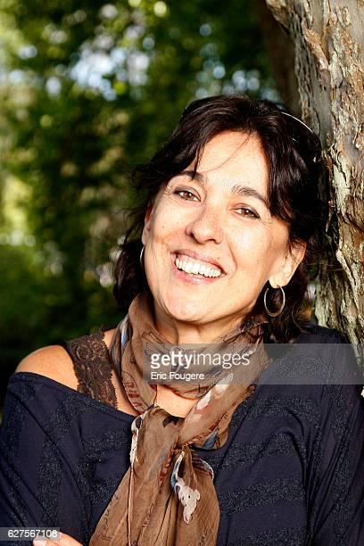 French writer Isabelle Alonso at 'la foret des livres ' in chanceaux près loche