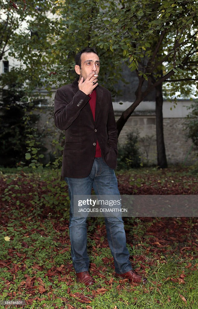 French writer Jerome Ferrari poses on October 25, 2012 in Paris.