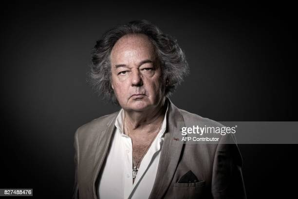 French writer journalist and artist Gonzague Saint Bris poses during a photo session on June 2 2017 in Paris / AFP PHOTO / joel SAGET