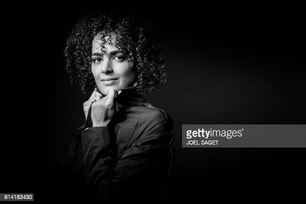 French writer Leila Slimani poses in Paris on September 28 2016 / AFP / JOEL SAGET / BLACK AND WHITE VERSION
