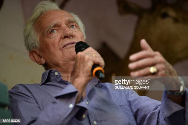French writer Philippe Labro speaks during the 22th La Foret Des Livres book fair on August 27 2017 in ChanceauxpresLoches central France La Foret...
