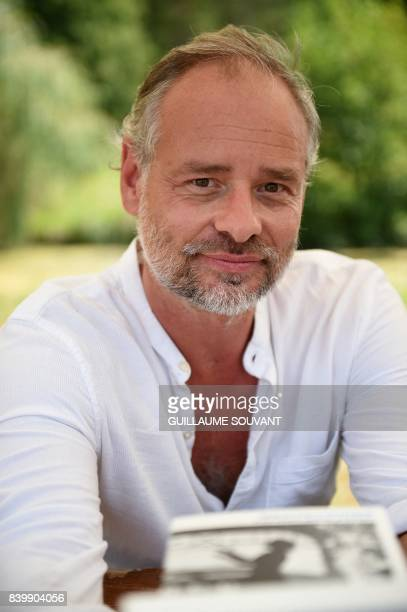 French writer Sebastien Spitzer poses during the 22th La Foret Des Livres book fair on August 27 2017 in ChanceauxpresLoches central France La Foret...