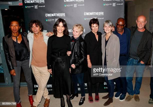 French writer Tania de Montaigne actor Paul Blain actress Juliette Binoche writer and director Claire Denis writer Christine Angot cinematographer...
