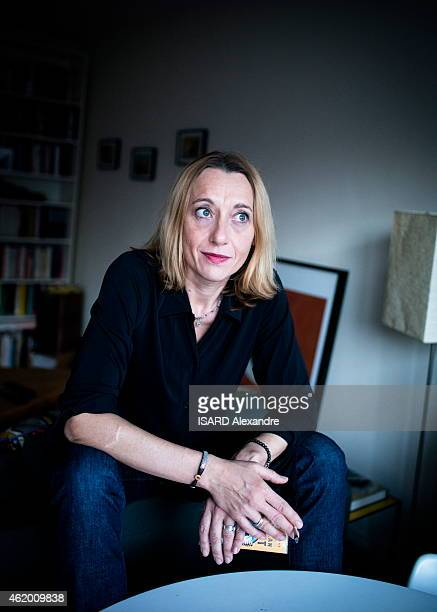 French writer Virginie Despentes poses at her home in Paris on January 14 2015