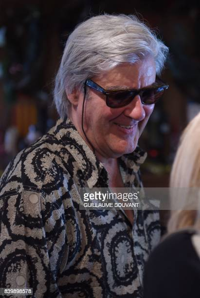 French writerand musician Gerard Manset attends the 22th La Foret Des Livres book fair on August 27 2017 in ChanceauxpresLoches central France La...