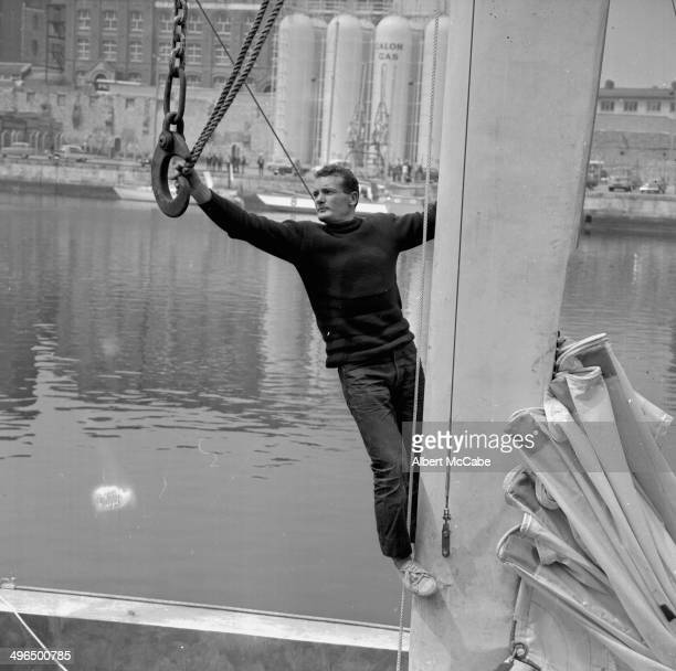 French yachtsman Eric Tabarly on board his boat 'Pen Duick' May 31st 1968