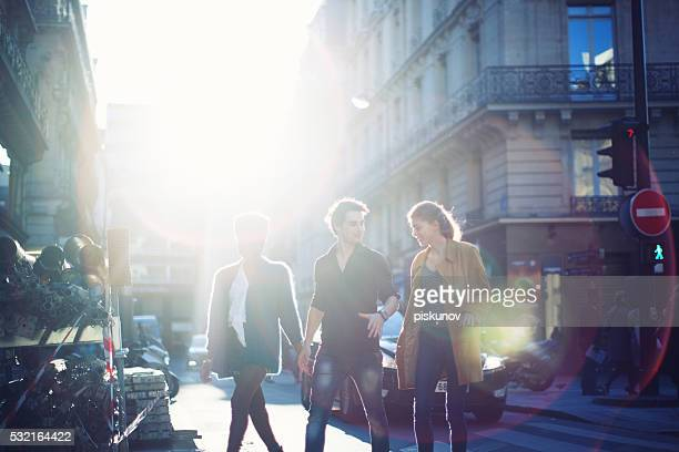 French Young People Walking on a Street