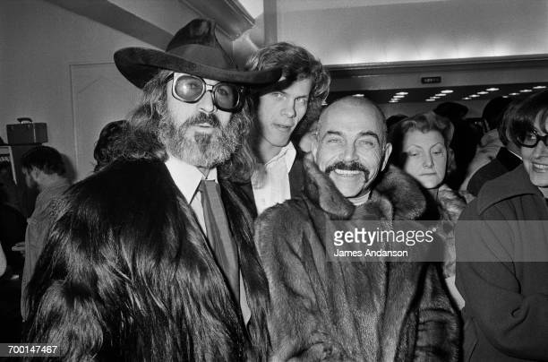 FrenchAmerican art dealer Fernand Legros with Vincent Roux at a of Jacques Martin show at the Theatre des BouffesParisienss Paris 2nd February 1976...