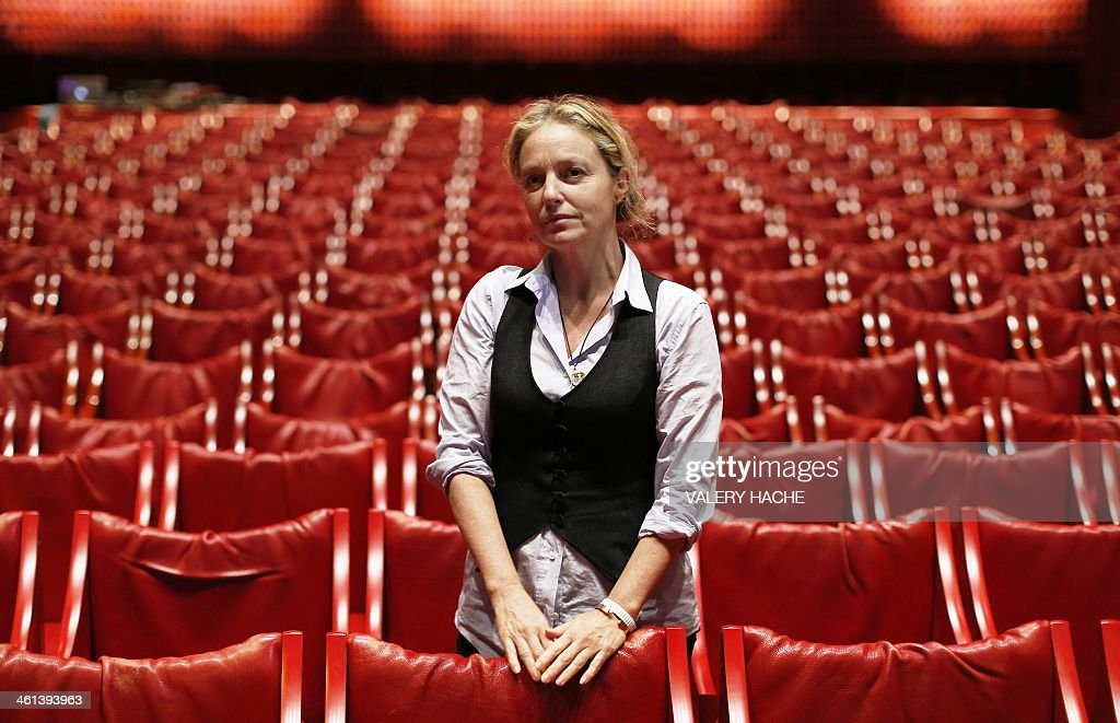 French-british newly appointed director of the National Theater of Nice Irina Brook poses in the theater on January 8, 2014 in Nice, southeastern France.