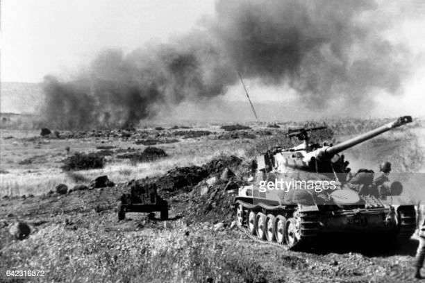 Frenchbuilt Israeli tanks in action in this photo taken June 1967 during the sixday war on the Golan Heights On 05 June 1967 Israel launched...