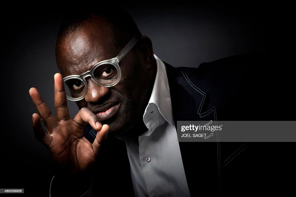 French-Congolese writer Alain Mabanckou poses in Paris on July 6, 2015.