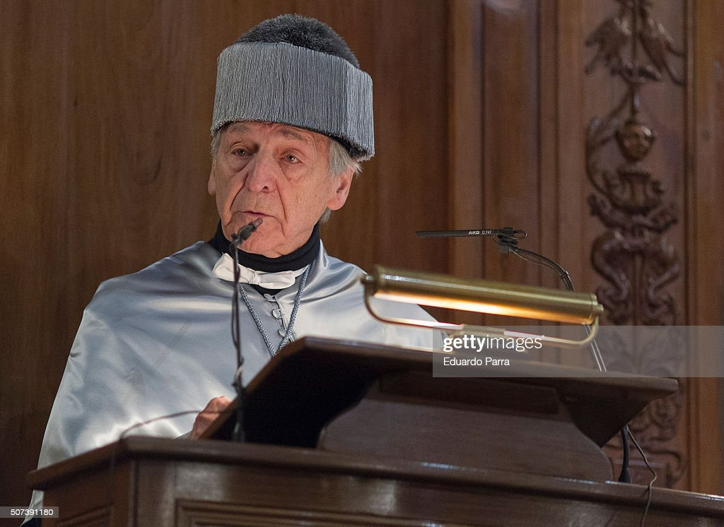 French-Greek director Costa Gavras is awarded the Doctor Honoris Causa at Computense University Auditorium on January 29, 2016 in Madrid, Spain.