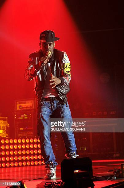 FrenchGuinean rapper Alpha Diallo aka 'Black M' performs at the 39th edition of 'Le Printemps de Bourges' rock and pop music festival in Bourges on...