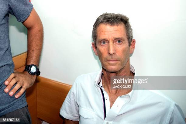 FrenchIsraeli diamond magnate Beny Steinmetz sits at the Israeli Rishon Lezion Justice court near Tel Aviv on August 14 2017 after he was detained as...
