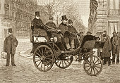 A Frenchmade tricycle steam car by Leon Serpollet is shown in the picture circa 1903 Serpollet was a French engineer The picture titled Serpollet's...