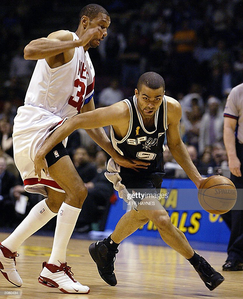 Frenchman Tony Parker R of the San Ant