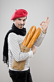 Frenchman With French Baguettes