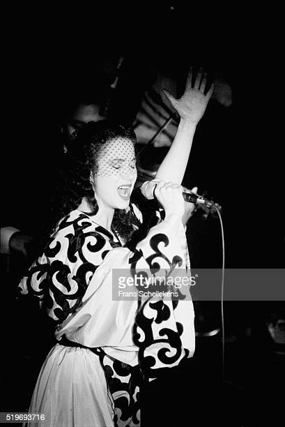 FrenchMoroccan singer Sapho sings Oum Kalsoum songs on January 27th 1995 at The Melkweg in Amsterdam Netherlands