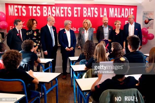 FrenchMoroccan writer Leila Slimani French Education Minister JeanMichel Blanquer founder and honorific president of the European Association against...
