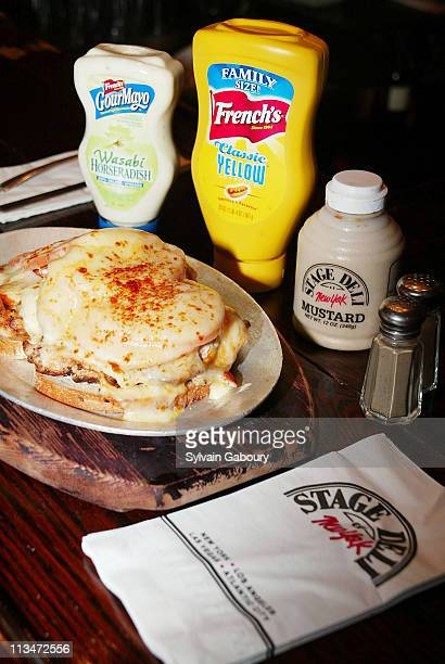 French's Gourmayo French's Classic Mustard during The Duchess of York and French's Gourmayo unveil the new 'Duchess of York' sandwich at Stage Deli...