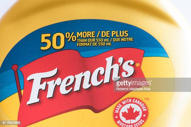 French's mustard bottle closeup Frenchs is an American brand of prepared mustard condiments fried onions and other food items