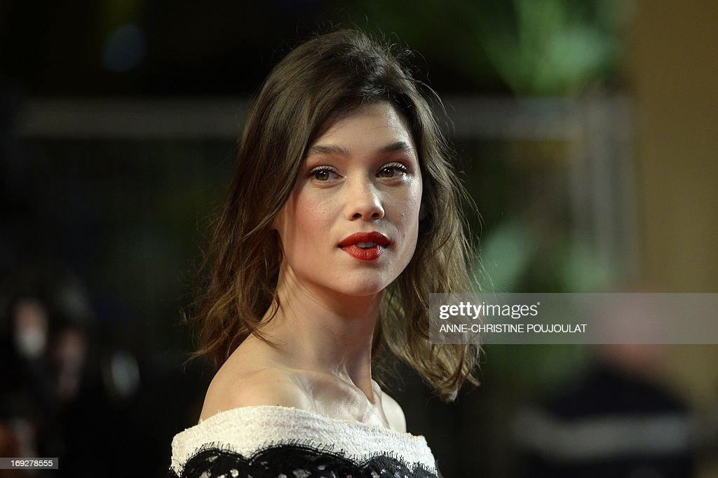 French-Spanish actress Astrid Berges-Frisbey poses on May 22, 2013 as she arrives for the screening of the film 'Only God Forgives' presented in Competition at the 66th edition of the Cannes Film Festival in Cannes. Cannes, one of the world's top film festivals, opened on May 15 and will climax on May 26 with awards selected by a jury headed this year by Hollywood legend Steven Spielberg. AFP PHOTO / ANNE-CHRISTINE POUJOULAT