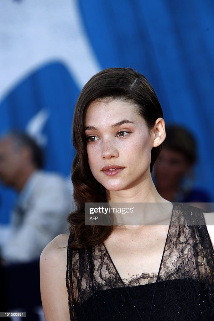French-Spanish Astrid Berges-Frisbey poses on the red carpet as she arrives for the awarding ceremony of the 38th Deauville's US Film Festival, on September 8, 2012 in the French northwestern sea resort of Deauville.