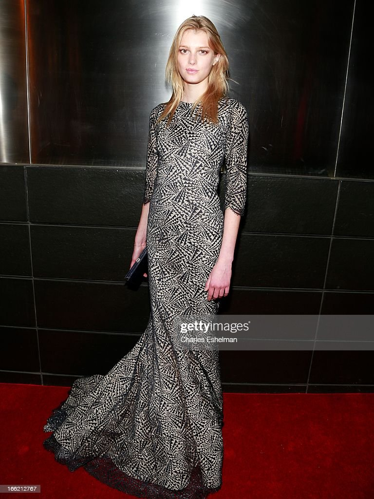 French-Swedish fashion model Sigrid Agren attends the New Yorker's For Children's 10th Anniversary A Fool's Fete Spring Dance at Mandarin Oriental Hotel on April 9, 2013 in New York City.