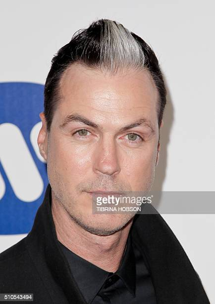 FrenchUS musician Michael Fitzpatrick of Fitz and The Tantrums poses as he arrives to attend the Warner Music After Party in Hollywood California on...