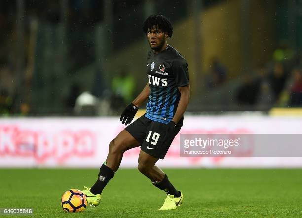 Frenck Kessie of Atalanta BC in action during the Serie A match between SSC Napoli and Atalanta BC at Stadio San Paolo on February 25 2017 in Naples...
