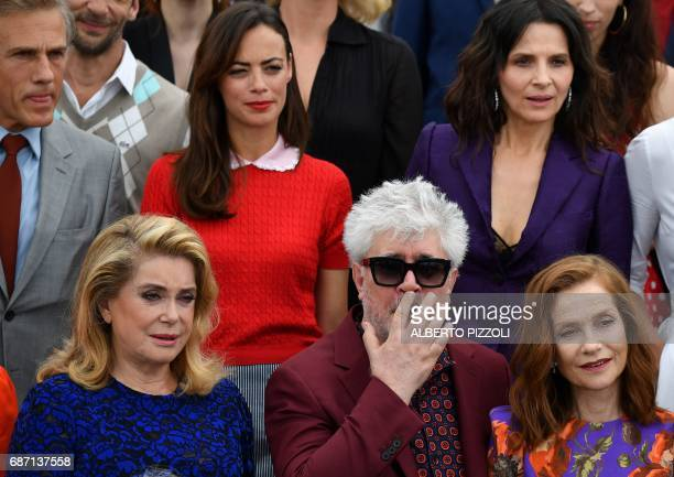 Frenhc actress Catherine Deneuve Spanish director and President of the Feature Film Jury Pedro Almodovar and French actress Isabelle Huppert Austrian...