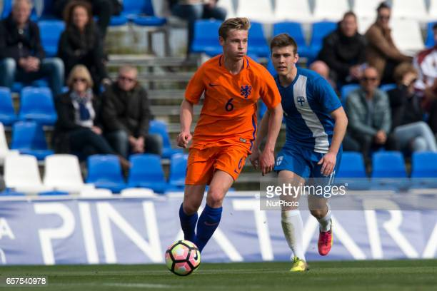 Frenkie de Jong during the friendly match of national teams U21 of The Netherlands vs Finland at Pinatar Arena on March 24 2017 in Murcia Spain