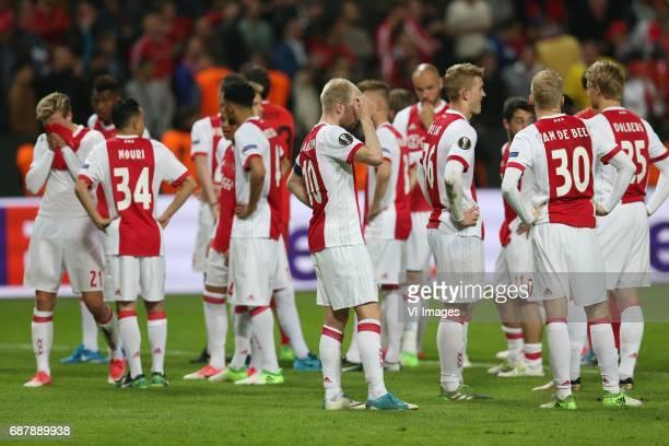 Frenkie de Jong of Ajax Abdelhak Nouri of Ajax Jairo Riedewald of Ajax Davy Klaassen of Ajax Matthijs de Ligt of Ajax Donny van de Beek of Ajax...