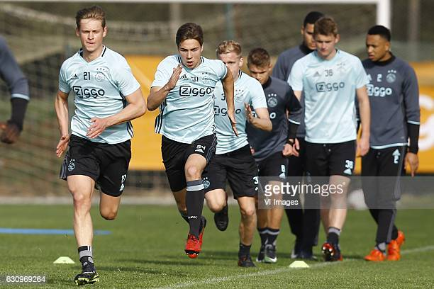 Frenkie de Jong of Ajax Amsterdam Carel Eiting of Ajax Amsterdamduring the training camp of Ajax Amsterdam on January 4 2017 at Algarve Portugal