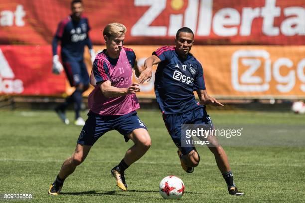 Frenkie de Jong of Ajax Damil Dankerlui of Ajaxduring the preseason summer training camp of Ajax Amsterdam at Lindenstadion on July 05 2017 in...
