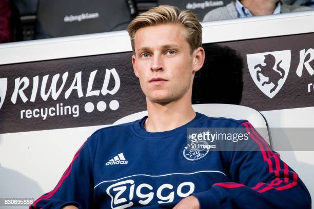 Frenkie de Jong of Ajax during the Dutch Eredivisie match between Heracles Almelo and Ajax Amsterdam at Polman stadium on August 12 2017 in Almelo...