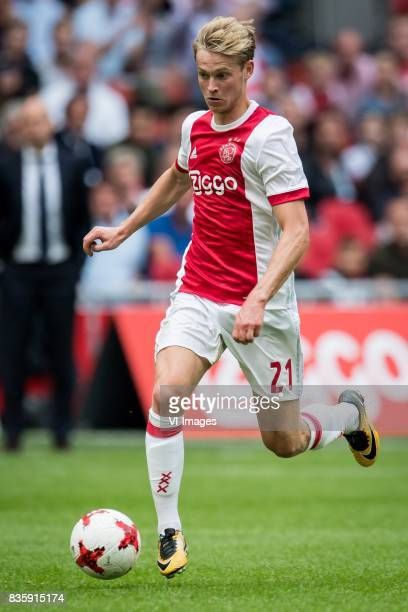 Frenkie de Jong of Ajax during the Dutch Eredivisie match between Ajax Amsterdam and FC Groningen at the Amsterdam Arena on August 20 2017 in...
