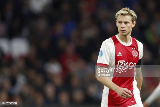 Frenkie de Jong of Ajax during the Dutch Eredivisie match between Ajax Amsterdam and PEC Zwolle at the Amsterdam Arena on September 09 2017 in...