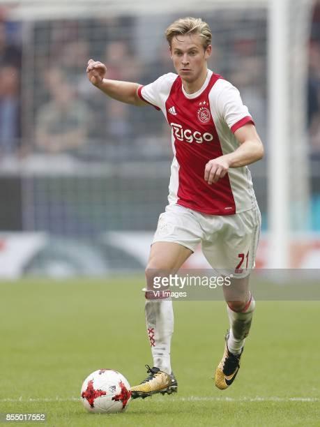 Frenkie de Jong of Ajax during the Dutch Eredivisie match between Ajax Amsterdam and Vitesse Arnhem at the Amsterdam Arena on September 24 2017 in...