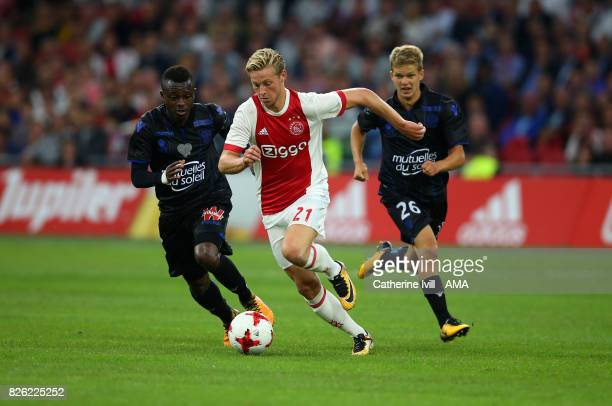 Frenkie de Jong of Ajax during the UEFA Champions League Qualifying Third Round match between Ajax and OSC Nice at Amsterdam Arena on August 2 2017...