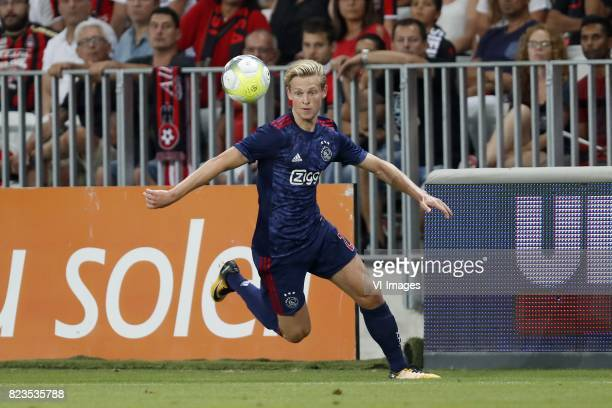 Frenkie de Jong of Ajax during the UEFA Champions League third round qualifying first leg match between OGC Nice and Ajax Amsterdam on July 26 2017...