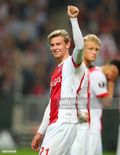 Frenkie de Jong of Ajax during the UEFA Europa League Final match between Ajax and Manchester United at Friends Arena on May 24 2017 in Stockholm...