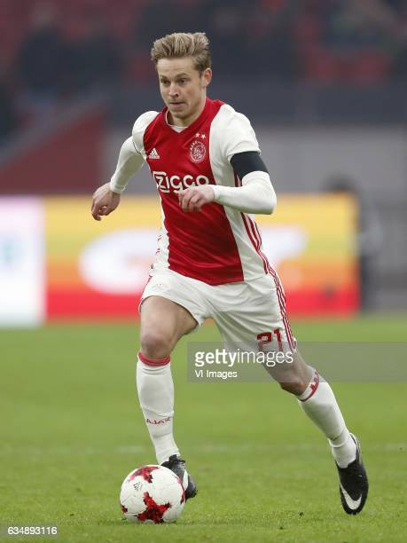 Frenkie de Jong of Ajaxduring the Dutch Eredivisie match between Ajax Amsterdam and Sparta Rotterdam at the Amsterdam Arena on February 12 2017 in...