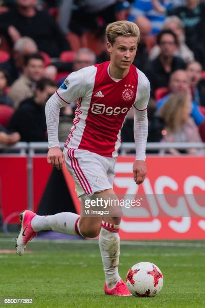 Frenkie de Jong of Ajaxduring the Dutch Eredivisie match between Ajax Amsterdam and Go Ahead Eagles at the Amsterdam Arena on May 07 2017 in...
