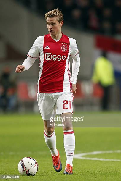 Frenkie de Jong of Ajaxduring the UEFA Europa League group G match between Ajax Amsterdam and Panathinaikos FC at the Amsterdam Arena on November 24...